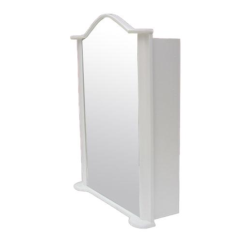 ミラーキャビネット(左開口) PVC製 洗面収納 ホワイト [幅67×高93cm] INK-0702014H