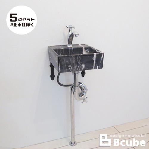 洗面台5点セット コンパクト 壁付け 幅30×奥行29cm Eセット77 INK-0403264Hset