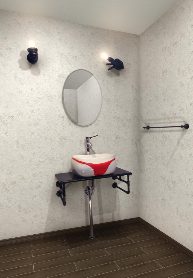 洗面台 洗面化粧台 陶器洗面ボウル 混合水栓の7点セット OTH-1 INK-0504113Hset1