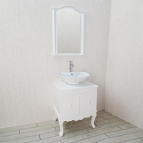 直送商品 洗面化粧台 洗面台 単水栓の5点セット INK-0501062Hset:ビーキューブ店 VIC-26 陶器洗面ボウル-木材・建築資材・設備