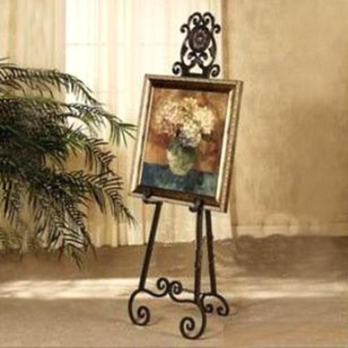 ロートアイアン イーゼル 絵画立て 格安激安 鉄 アンティーク風 INK-1401056H 新作入荷!! 幅43.5×高144cm