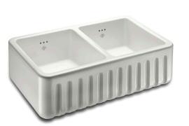 キッチンシンク 陶器製 英国 イギリス製 ショーズ ホワイト 幅79.5×奥行46.5×高22.8cmリブチェスター RIBCHESTER-800