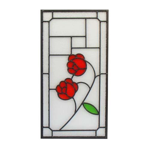 上品 ステンドグラス アイアン ガラス 窓枠 休日 幅25cm パネル ドア INK-1103021H