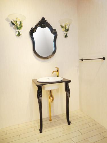 洗面台 洗面化粧台 混合水栓の7点セット VIC-9 INK‐0504114Hset2