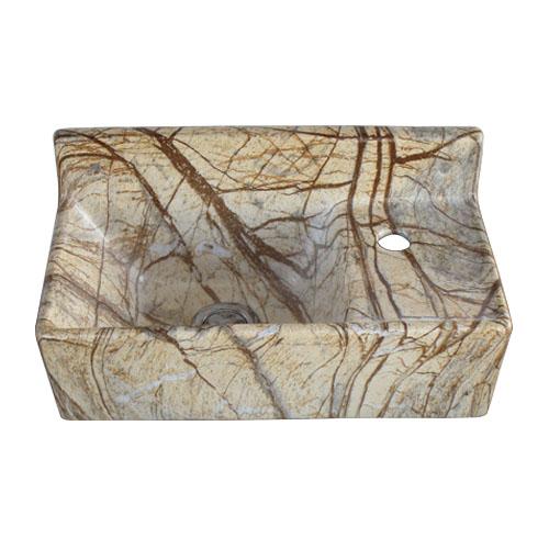 洗面ボウル 陶器 壁付けタイプ 大理石調 マーブル 幅35.5×奥行19.5×高18cm INK-0403313H