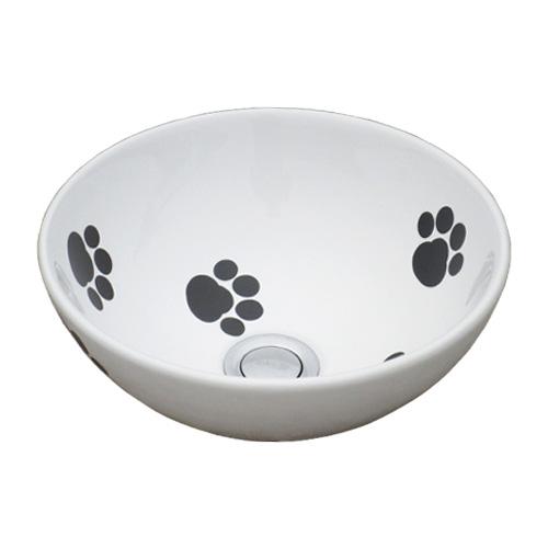 洗面ボウル 陶器 オンカウンター 置き型 ラウンド 幅28×奥行28×高12cm INK-0405076H