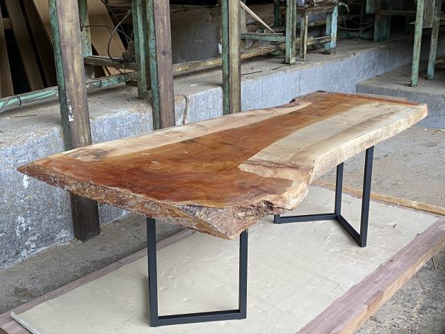 一枚板 ケヤキ 欅 無垢 天板 テーブル 幅70cm×長208cm KY-001
