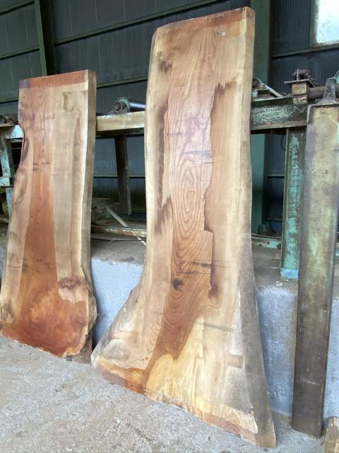 一枚板 ケヤキ 欅 無垢 天板 テーブル 幅55cm×長220cm KY-002