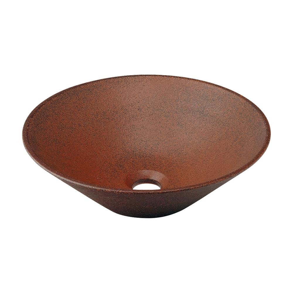 洗面ボウル おしゃれ 陶器製 シンク 日本製 小さい 丸型 幅35×奥行35cm 493-037-M [代引決済不可]
