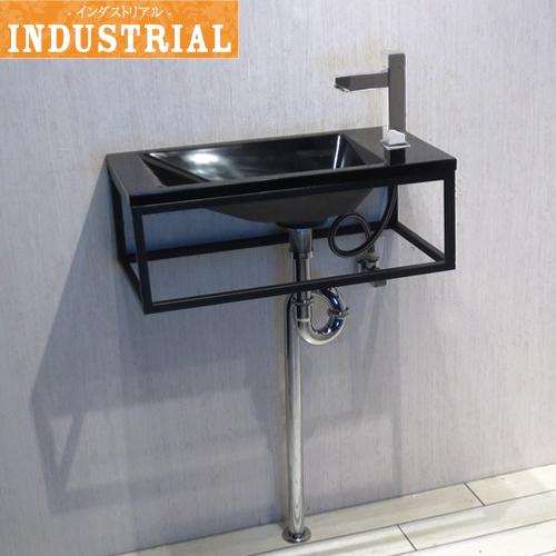 洗面台セット 壁付け 人工大理石 洗面ボウル 単水栓の5点セット 幅55×奥行28×高20cm IDS-9 INK-0502025Hset-b