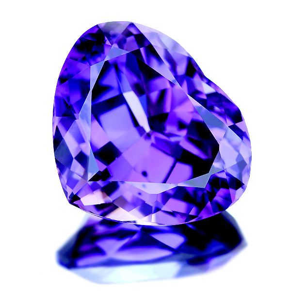 tanzanite close gem gallery violet
