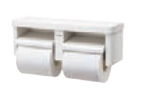 XGHA780SV パナソニック ショートタイプ樹脂製棚付き2連ペーパーホルダー ショートタイプ 色:シルバー 【送料無料】