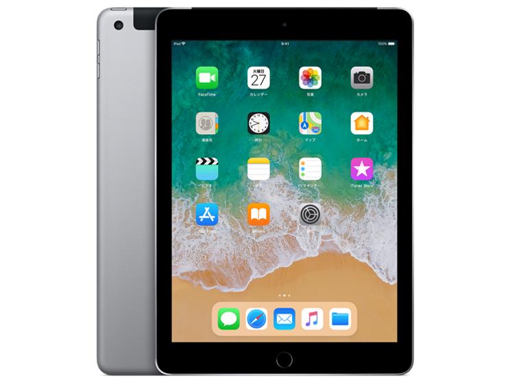 Apple A10 2.34GHz 2GB 32GB iOS14 商品ランク:B 動作ランク:A 無償保証6ヶ月 中古タブレットApple スペースグレイ 限定品 エーユー iPad A Wi-Fi +Cellular 第6世代 正規店 中古 au MR6N2J