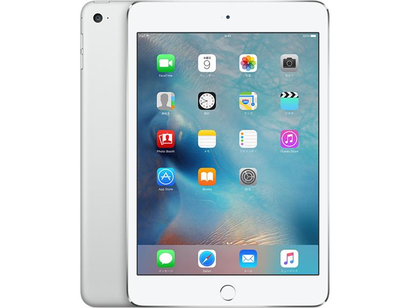 Apple A8X 1.5GHz 4GB 64GB iOS14 商品ランク:B 動作ランク:A 無償保証6ヶ月 中古タブレットApple 未使用品 Wi-Fi+Cellular 使い勝手の良い エーユー 中古 シルバー A MK732J iPad mini4 au