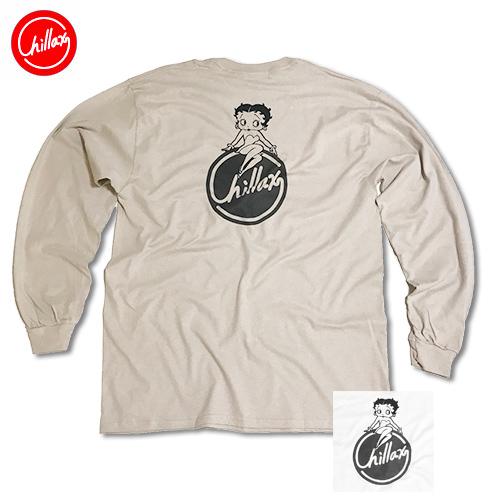 【レディース】RHC Ron Herman (ロンハーマン): Chillax × Betty Circle ロゴ オーバーサイズ ロングTシャツ