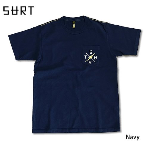 RHC Ron Herman (ロンハーマン): SURT×Lightning Bolt Cross Logo ICON Pocket Tシャツ ネイビー