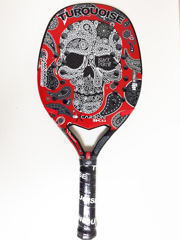 ビーチテニスラケットTURQUOISE BLACK DEATH RED 2018