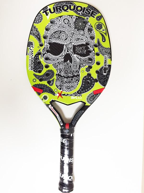 ビーチテニスラケットTURQUOISE BLACK DEATH Green 2018