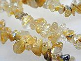 水晶 ネックレス ブレスレット 天然石 さざれ ルチルクォーツ 正規品 原石 姫 ロマンチック パーツ パワーストーン アクセサリー ショート-2連 ビーズ メーカー在庫限り品 金色針水晶