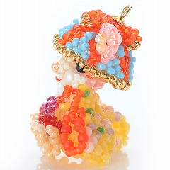 Beads local rabbit-Okinawa × Ryukyu dance division-biscuit / motif / animal / strap / craft / Recipes / Recipe / bead Kit