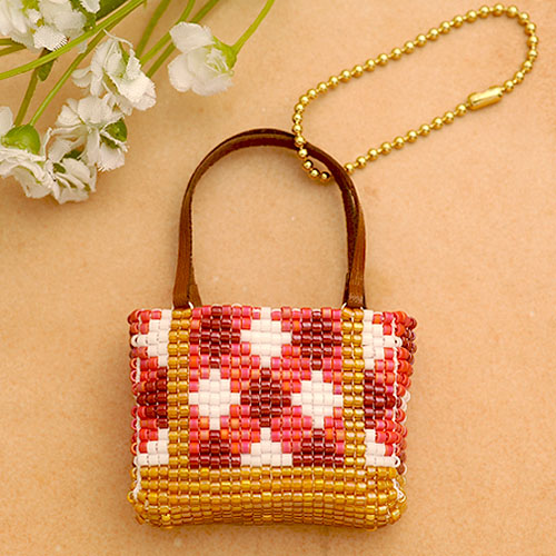 Weave Delicabees Weaving Bag Charm Kits Tote Gingham Red Bfk 478 Beads And Private Tools Machines Grip Making Accessories