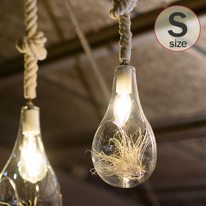 照明 おしゃれ ボタニックハンギングライト S _PP02 APE-022WH ハンギングライト テラリウム LEDライト インテリア いなざうるす屋 フェイクグリーン 【あす楽対応】 【送料無料】