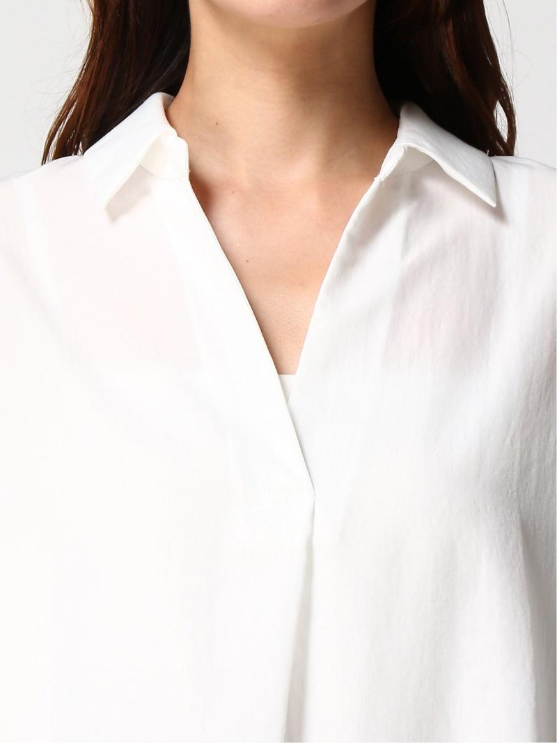 Ray BEAMS ピンク 【SALE/30%OFF】 ウイメン スキッパー 長袖シャツ タック Ray BEAMS / バック 【RBA_E】 ビームス beams ブラック シャツ/ ホワイト 長袖 【送料無料】 ビームス ブラウス レイビームス [Rakuten Fashion] レディース ブラウス