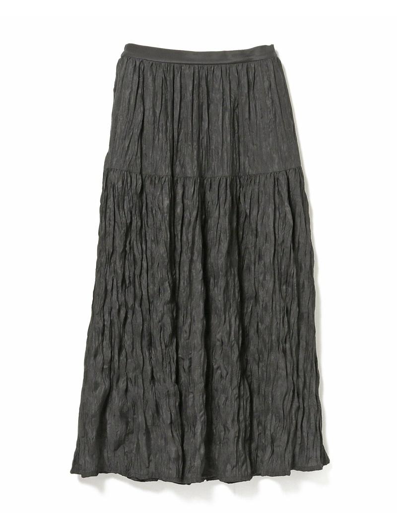 [Rakuten Fashion]Ray BEAMS / ワッシャー プリーツ マキシスカート  Ray BEAMS ビームス ウイメン スカート ロングスカート ネイビー ブラウン グリーン【送料無料】