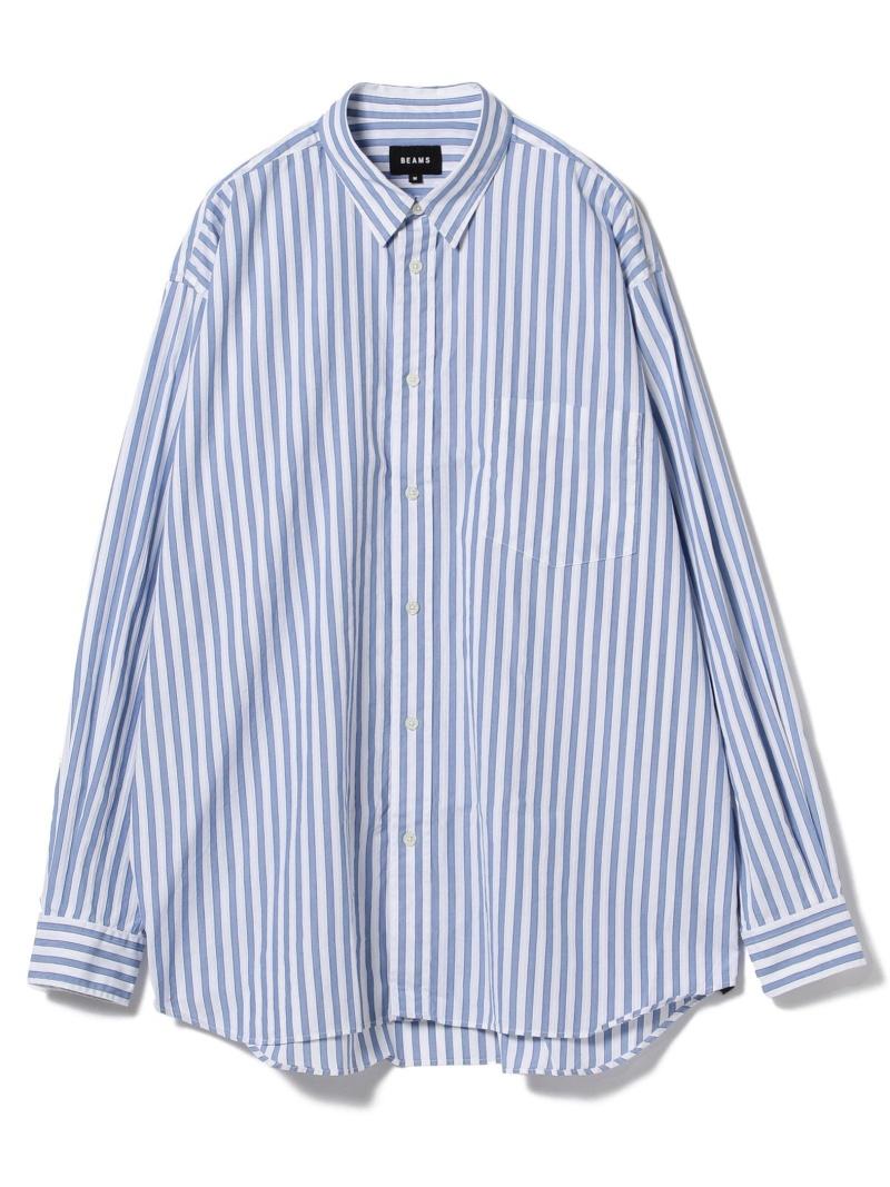 [Rakuten BRAND AVENUE]BEAMS / ストライプ イージー ミニレギュラーシャツ BEAMS MEN ビームス メン シャツ/ブラウス【送料無料】
