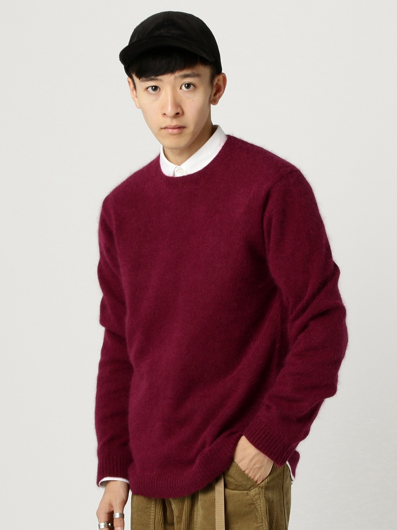 [Rakuten BRAND AVENUE]O.Angora*Ny C/N BEAMS MEN ビームス メン ニット【送料無料】