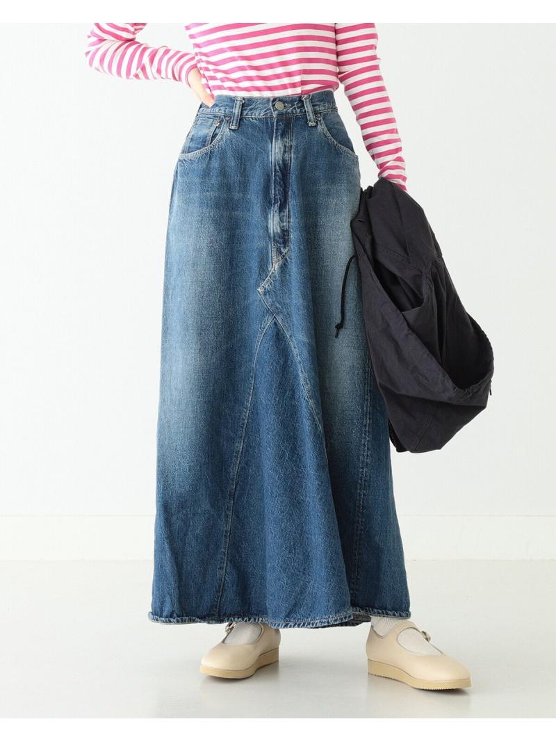 [Rakuten Fashion]orslow × BEAMS BOY / 別注 Monroe skirt BEAMS BOY ビームス ウイメン スカート ロングスカート ブルー【送料無料】