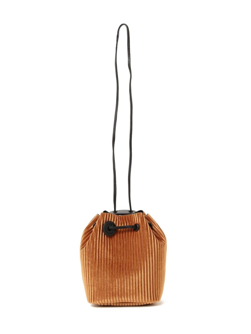 [Rakuten BRAND AVENUE]Hashibami / ストライプ ベロア 巾着バッグ Ray BEAMS レイビームス ハシバミ レディース ビームス ウイメン バッグ【送料無料】