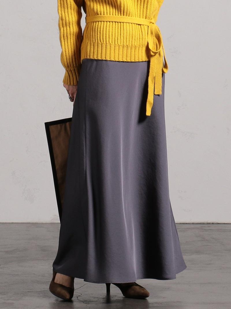 [Rakuten Fashion]BEAMS LIGHTS / サテン バイアス スカート サテンスカート ビームス BEAMS LIGHTS ビームスライツ スカート スカートその他 グレー ベージュ パープル【送料無料】