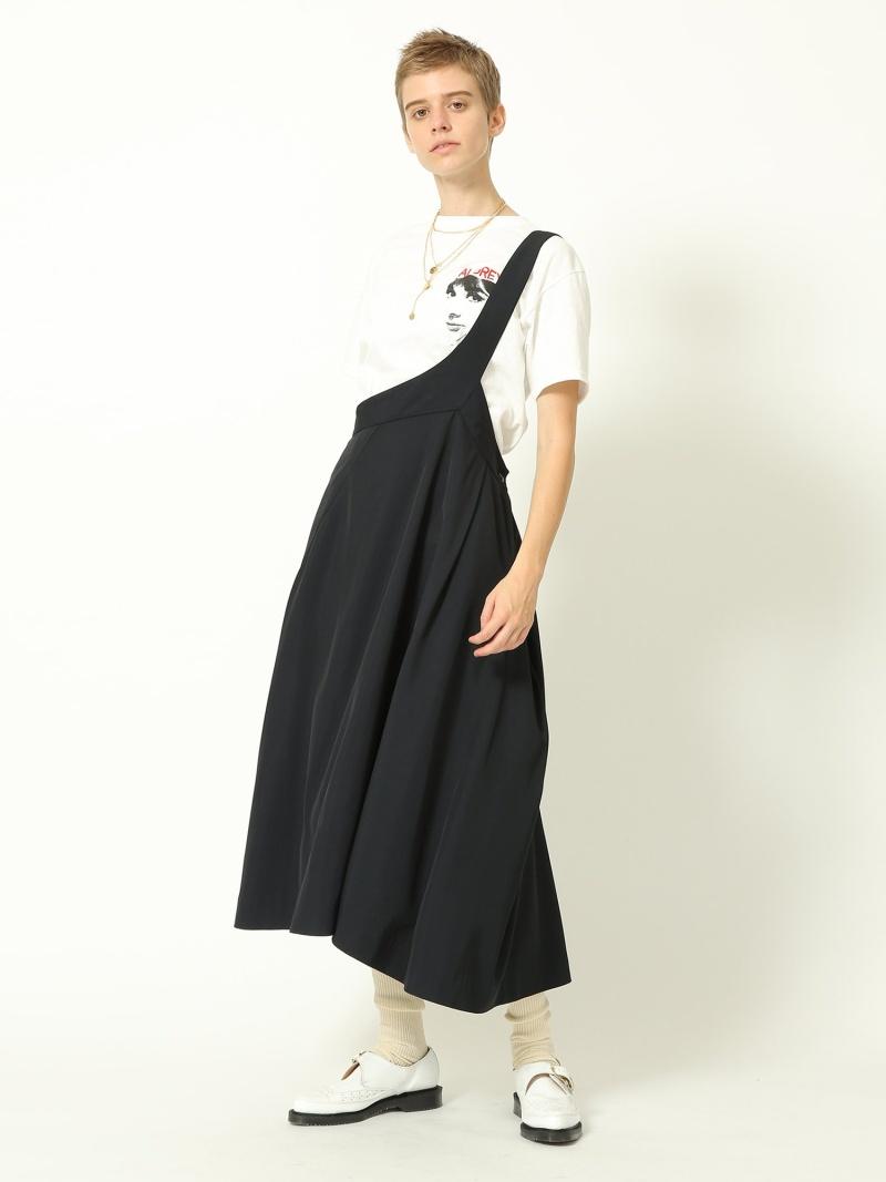 [Rakuten Fashion]maturely / Viscose One Shoulder Flare Skirt BEAMS BOY ビームス ウイメン スカート ジャンパースカート ネイビー【送料無料】