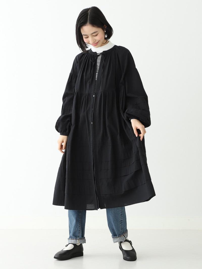 [Rakuten Fashion]【SALE/30%OFF】BEAMS BOY / コットンローン タック ロングスリーブ BEAMS BOY ビームス ウイメン ワンピース 長袖ワンピース ブラック ホワイト【RBA_E】【送料無料】