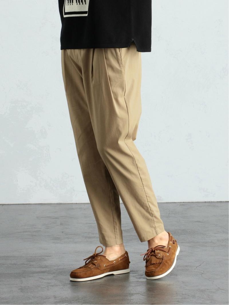 [Rakuten Fashion]BEAMS LIGHTS / ラミー COOLMAX(R) イージーパンツ BEAMS ビームス リネン混 パンツ BEAMS LIGHTS ビームスライツ パンツ/ジーンズ パンツその他 ベージュ ブラック【送料無料】