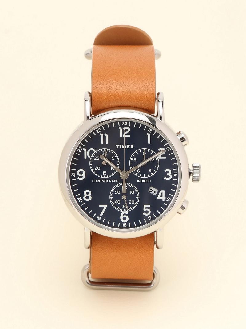 [Rakuten BRAND AVENUE]TIMEX / ウィークエンダー クロノグラフ Brown/Navy タイメックス 腕時計 レディース BEAMS BOY ビームス ウイメン ファッショングッズ【送料無料】
