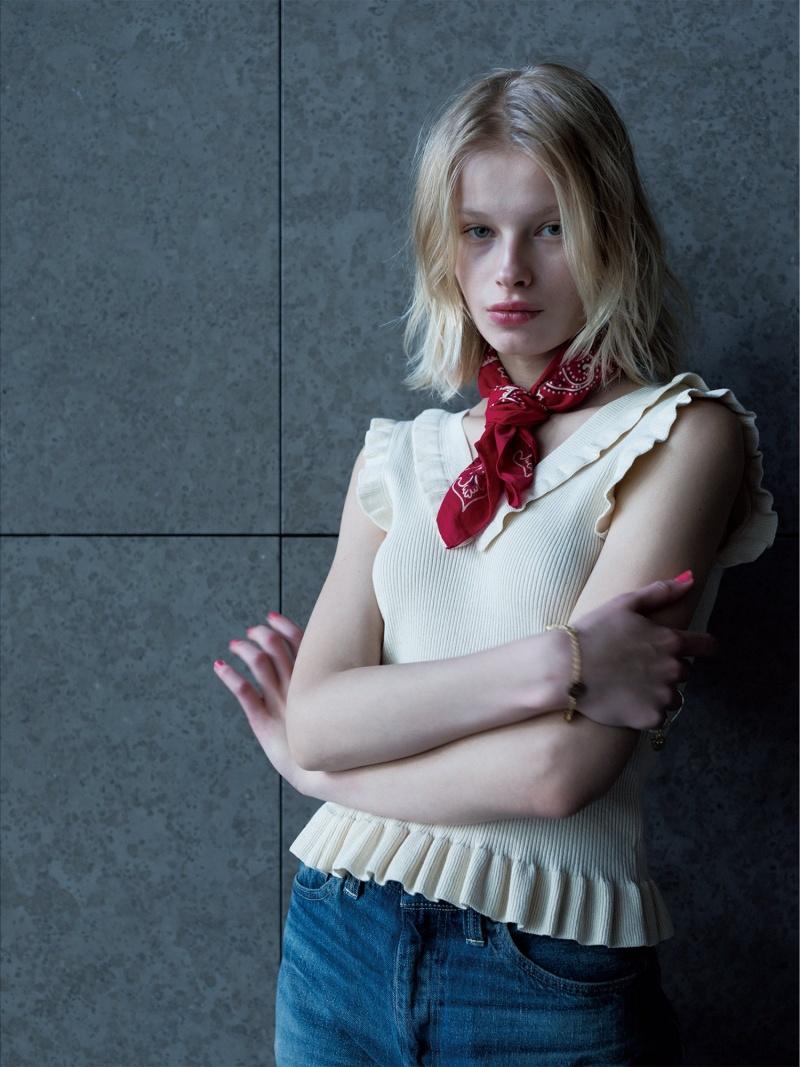 [Rakuten Fashion]maturely / Natural Cotton Back to Front Tank Top BEAMS BOY ビームス ウイメン ニット ノースリーブニット/ベスト ホワイト ネイビー ブラウン【送料無料】
