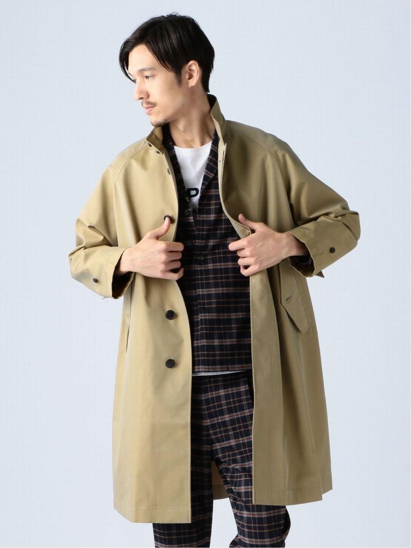 [Rakuten Fashion]Gymphlex / スタンドカラー コート BEAMS ビームス ビッグシルエット BEAMS LIGHTS ビームスライツ コート/ジャケット ロングコート ベージュ【送料無料】