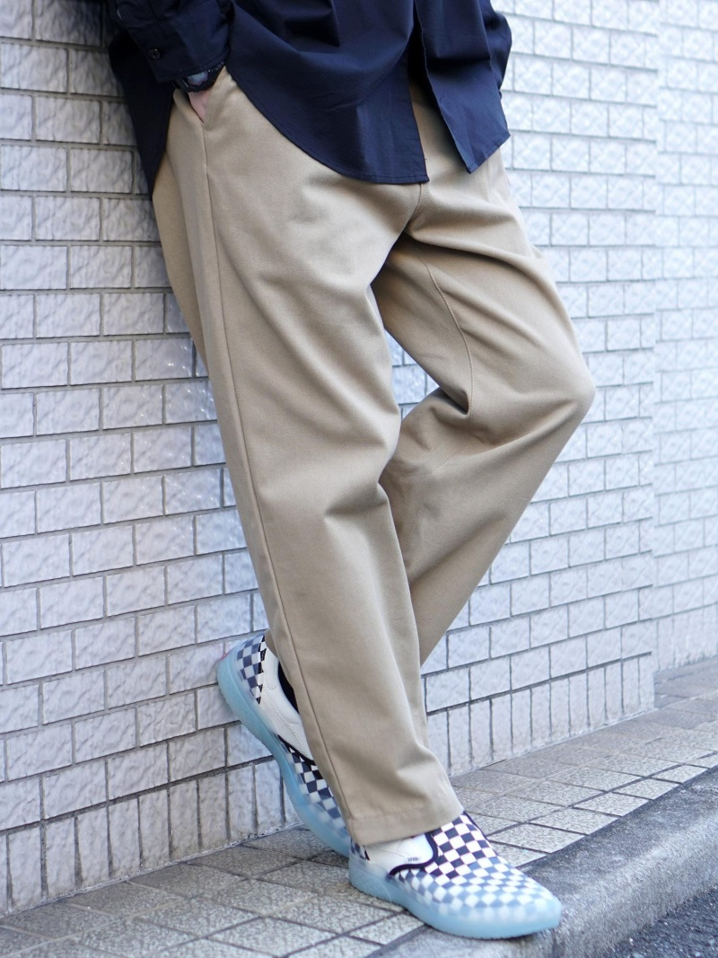 [Rakuten Fashion]UNIVERSAL OVERALL × BEAMS / 別注 イージー タック トラウザー BEAMS MEN ビームス メン パンツ/ジーンズ フルレングス ベージュ ブラック ネイビー グリーン【送料無料】