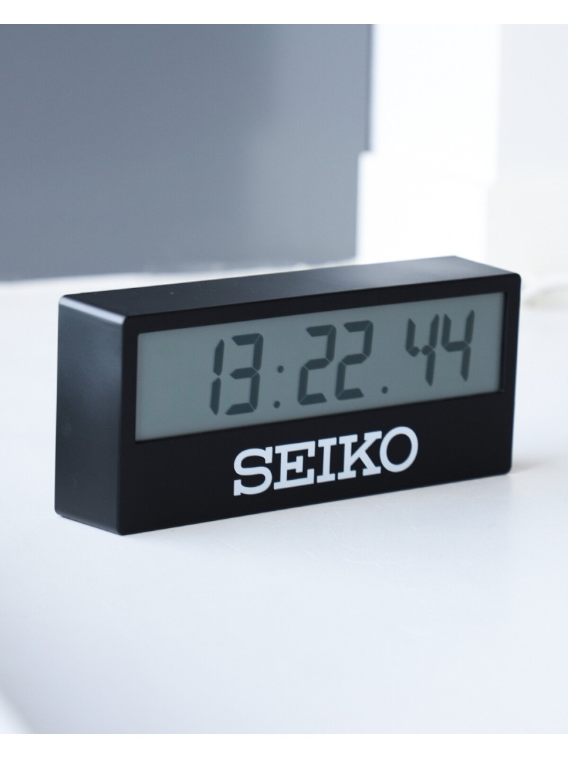 [Rakuten Fashion]SEIKO / SPORTS TIMER CLOCK(BEAMS Exclusive) BEAMS MEN ビームス メン 生活雑貨 置き時計 ブラック ホワイト【送料無料】