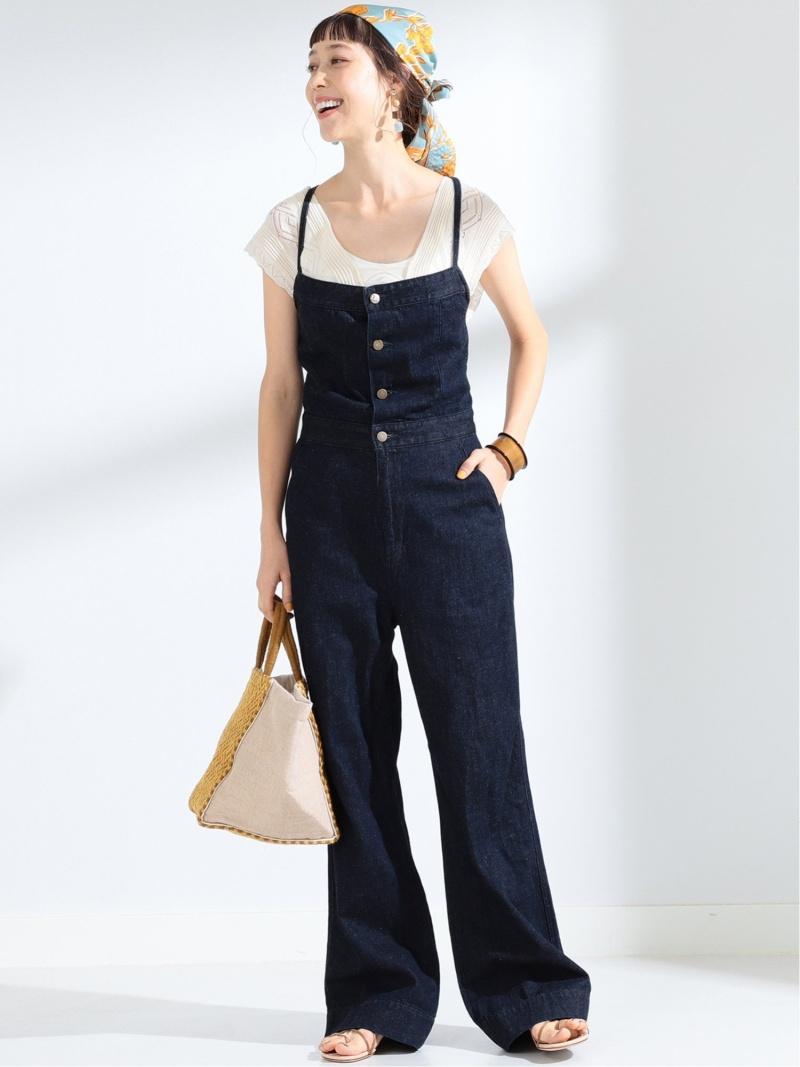 [Rakuten Fashion]【WEB限定】Lee / マリン サロペット Ray BEAMS ビームス ウイメン パンツ/ジーンズ サロペット/オールインワン ブルー ホワイト【送料無料】