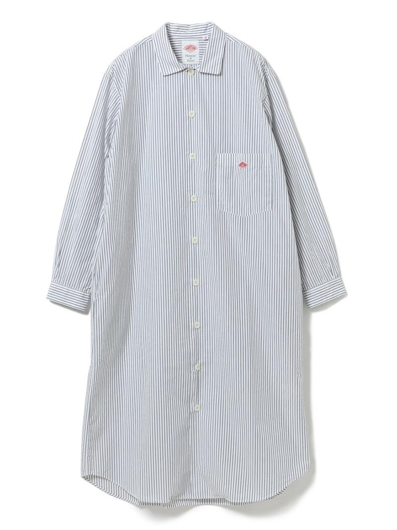 [Rakuten Fashion]【WEB限定】DANTON / ストライプ シャツワンピース Ray BEAMS ビームス ウイメン ワンピース シャツワンピース ネイビー【送料無料】