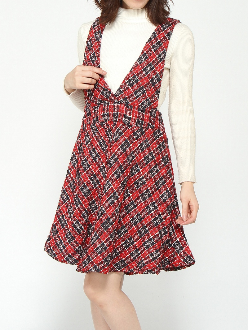 [Rakuten BRAND AVENUE]sister jane / Vamp Check Dress Ray BEAMS ビームス ウイメン スカート【送料無料】
