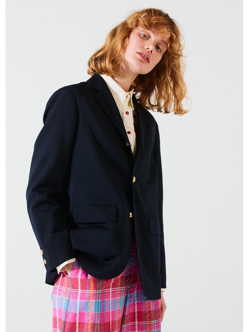 [Rakuten Fashion]BEAMS BOY / ポリエステル ウール 3ボタン ブレザー BEAMS BOY ビームス ウイメン コート/ジャケット テーラードジャケット ネイビー グレー【送料無料】