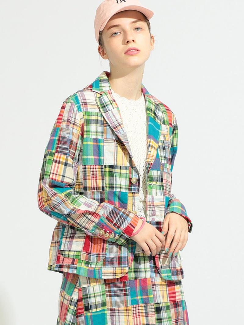 [Rakuten Fashion]BEAMS BOY / ボーイ パッチワーク マドラス 3ボタン ジャケット BEAMS BOY ビームス ウイメン コート/ジャケット テーラードジャケット【送料無料】