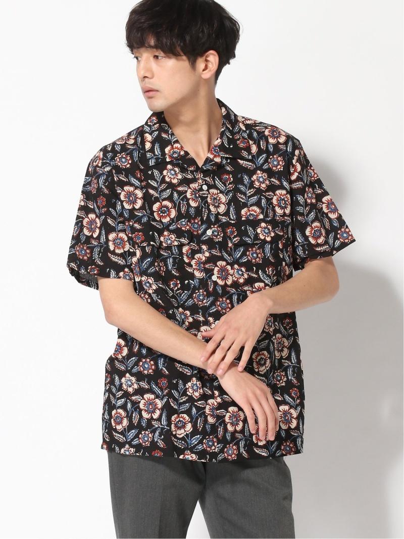 [Rakuten Fashion]【WEB限定】BEAMS PLUS / ブロックプリント オープンカラー 半袖 シャツ BEAMS MEN ビームス メン シャツ/ブラウス 半袖シャツ ブラック ブラウン【送料無料】
