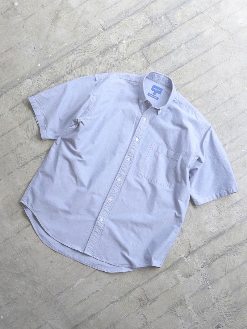 [Rakuten Fashion]BEAMS / イージー オックスフォード ボタンダウン シャツ BEAMS MEN ビームス メン シャツ/ブラウス 半袖シャツ ブルー ホワイト【送料無料】