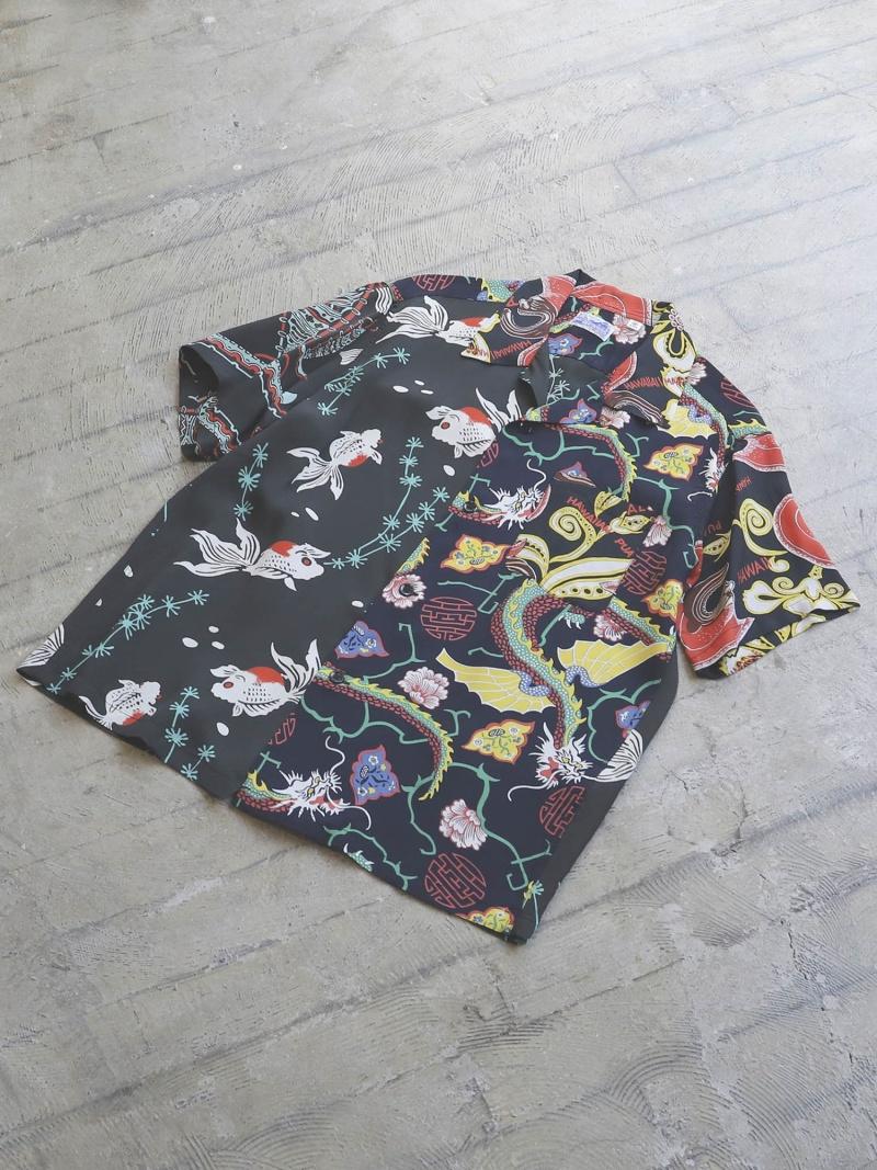 [Rakuten Fashion]BEAMS / クレイジー アロハシャツ 20SS BEAMS MEN ビームス メン シャツ/ブラウス 長袖シャツ ブラック ネイビー ホワイト【送料無料】