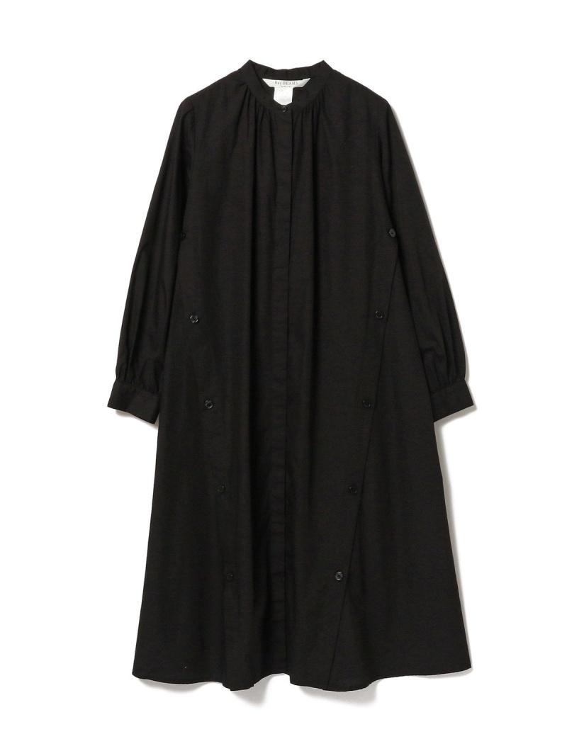 [Rakuten Fashion]【SALE/30%OFF】Ray BEAMS / サイド ボタン シャツ ワンピース レイビームス ビームス beams レディース 長袖  Ray BEAMS ビームス ウイメン ワンピース シャツワンピース ブラック ベージュ ホワイト【RBA_E】【送料無料】